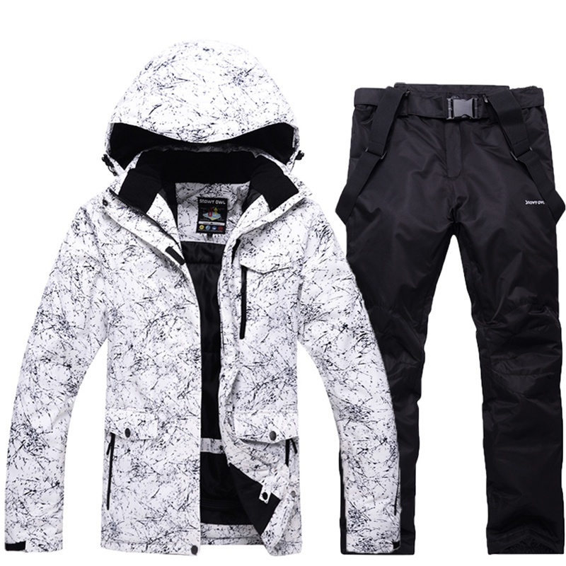 Men's Skiing Clothing Waterproof Windproof Snow Skiing Suit -30 Degrees Thermal Outerwear Man Ski Snowboard jackets and pants 2018 new lover men and women windproof waterproof thermal male snow pants sets skiing and snowboarding ski suit men jackets