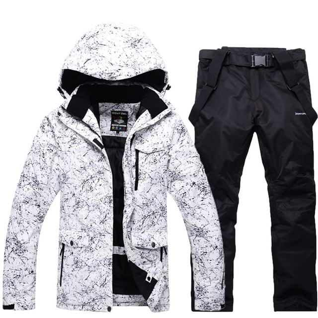 01e1029757 Men s Skiing Clothing Waterproof Windproof Snow Skiing Suit -30 Degrees  Thermal Outerwear Man Ski Snowboard jackets and pants