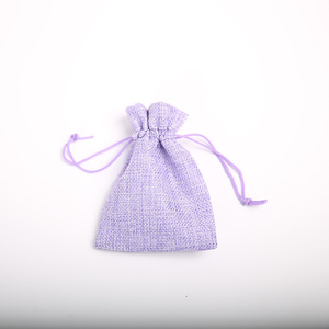 Image 2 - 9 * 12cm imitation linen bunch pocket wedding holiday Christmas gift bag jewelry nut linen bag 100pcs