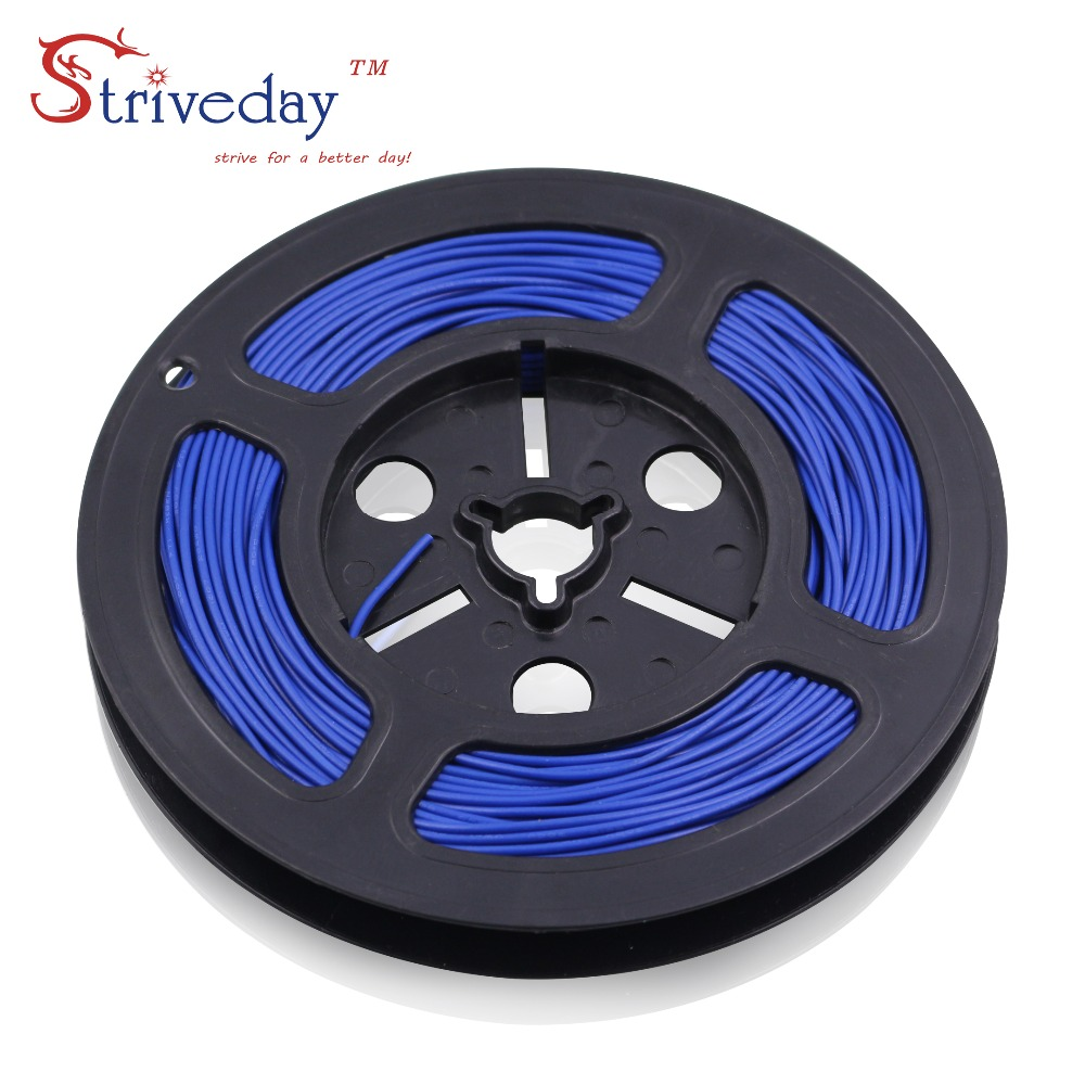 Striveday 1007 26 Awg Cable Copper Wire 30 Meters Red Black And 10 Electrical Conductor Bv Electric Colors For Choosen Wires Cables Diy 100ft In From Lights