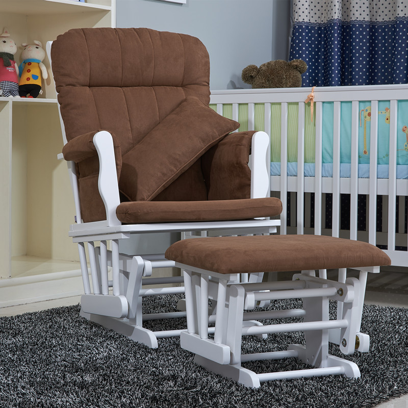 Buy Wood Rocker Chair And Ottoman Feeding Baby Living Room F