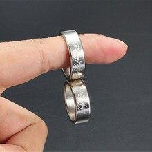 Серебряное сильное магнитное волшебное кольцо монета палец волшебник трюк реквизит шоу инструмент магический трюк игрушки высокое качество