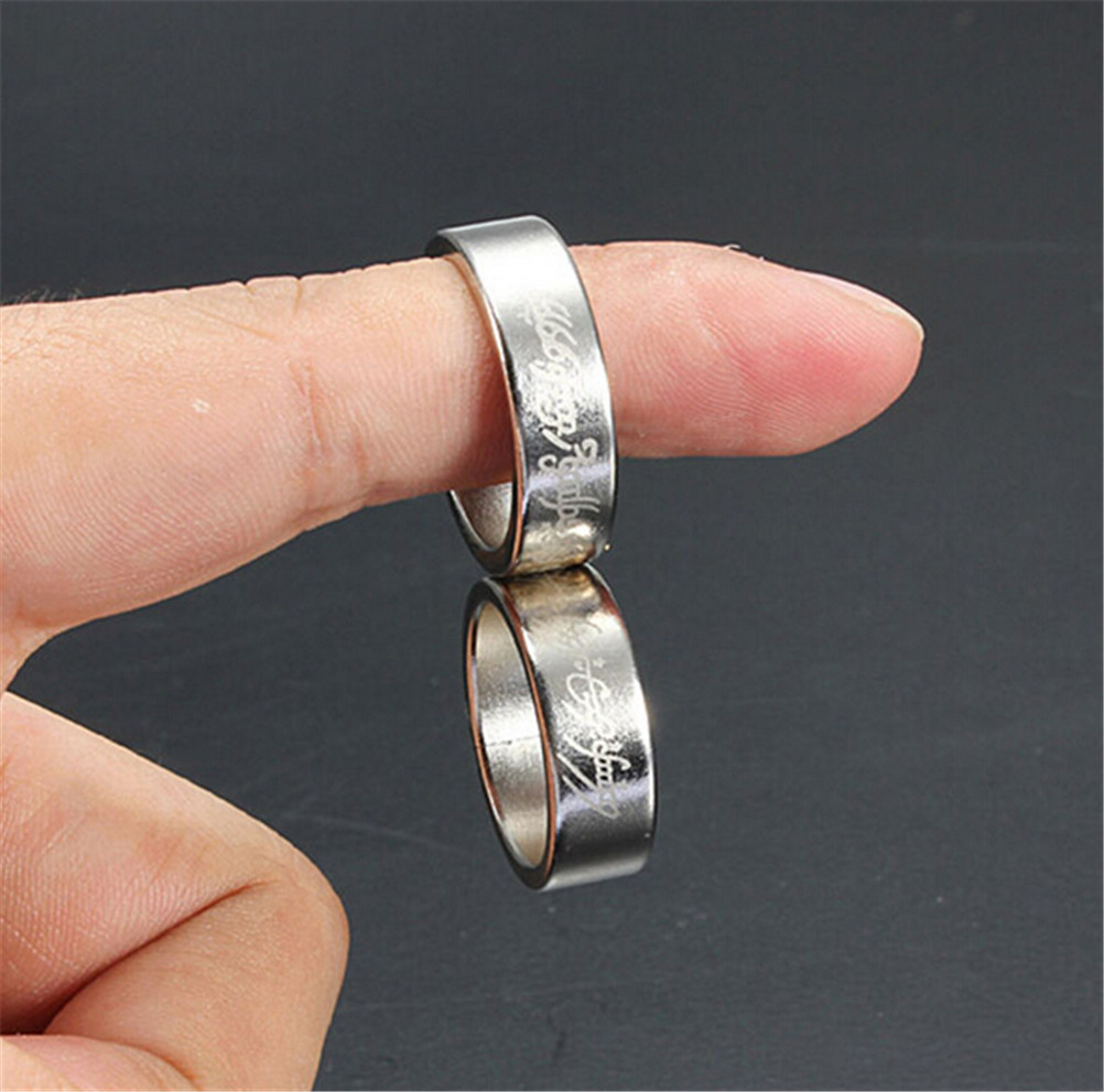 Silver Strong Magnetic Magic Ring Coin Finger Magician Trick Props Show Tool Magic Trick Toys High Quality
