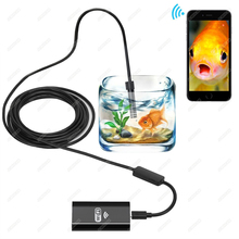 8mm 1/2/3.5/5/10M Smart 2MP WIFI Endoscope 6/8pcs Adjustable LED Waterproof Wireless Borescope Camera for Android IOS Tablet