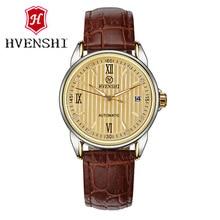 HVENSHI Automatic mechanical watch calendar function male watch Top Luxury Watch Men Wristwatch Fashion casual watches
