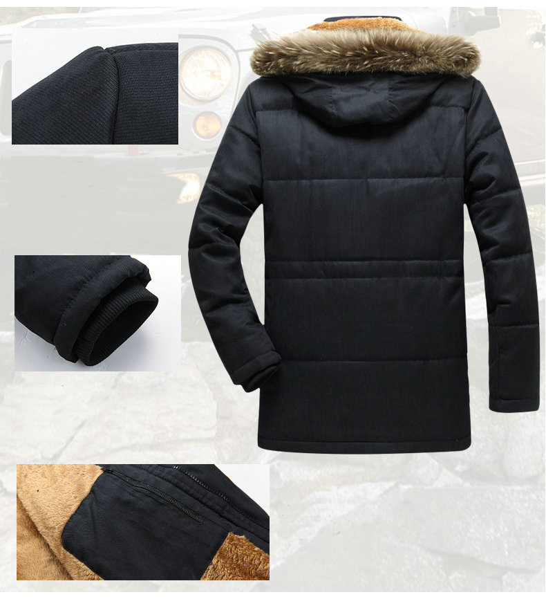 Thick Warm Parka Men New Hot Long Winter Jacket Men Hooded Military Cargo Mens Winter Coat Plus Size M-5XL 4