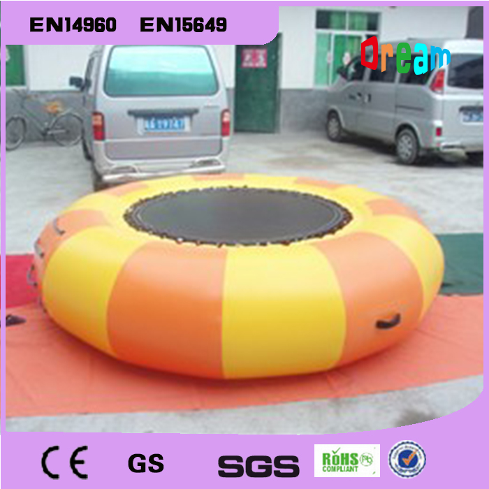 Free Shipping Dia 3m 0 9mm Inflatable Water Trampoline Water Jumping Bed Jumping Trampoline free 1