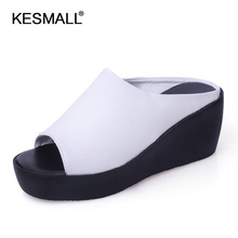 Women Platform Sandals 2019 Summer Slip On Shoes Woman Fashi