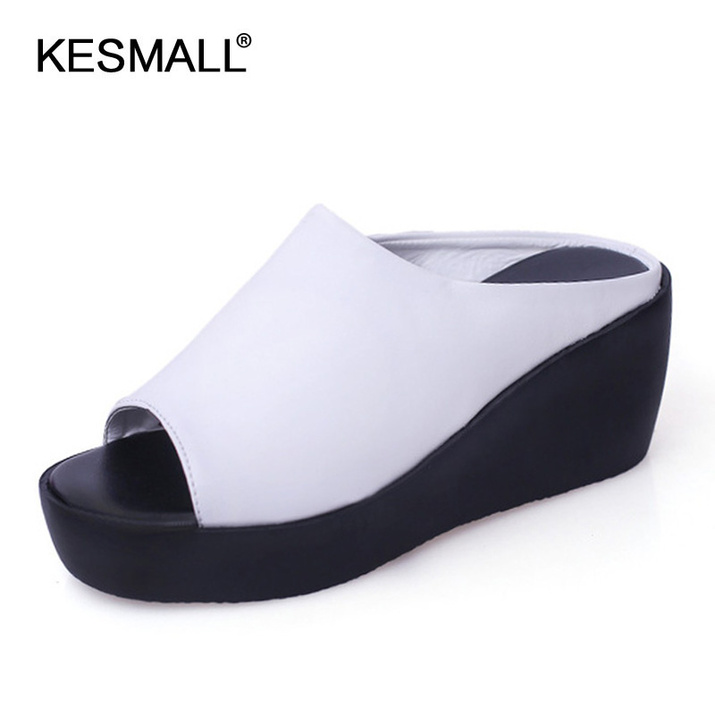 Women <font><b>Platform</b></font> <font><b>Sandals</b></font> 2019 Summer Slip On Shoes Woman Fashion Wedges Female Fashion Rome Slippers <font><b>Sexy</b></font> <font><b>High</b></font> <font><b>Heels</b></font> Ladies Slides image