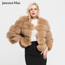 Женская шуба из натурального Лисьего меха, зимняя Модная Меховая куртка, плотная теплая пушистая верхняя одежда высокого качества, натуральный мех, S1796