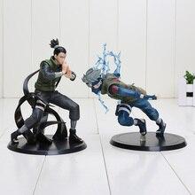 15cm Anime Naruto Nara Shikamaru + Hatake Kakashi PVC action Figures Toys Christmas gift Naruto figure