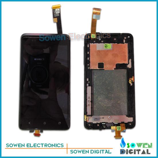 Para htc desire 400 t528w pantalla lcd con pantalla táctil digitalizador asamblea con marco conjunto completo