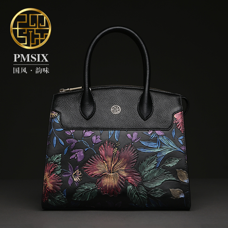 PMSIX 2017 Autumn Winter Genuine Leather Bags Women Real Leather Handbags Totes Fashion New Big Shoulder Bags For Woman P110008