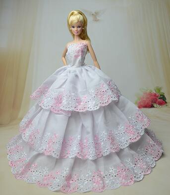 genuine case for Barbie doll clothes new authentic clothing fashion apparel accessories dress dream wedding dress princess dress