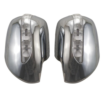 Para Toyota Prado 2700 FJ120 J120 2003-2009 cubierta de espejo retrovisor de coche con lámpara de luz LED estilo de adorno de coche ABS cromo Accesorios