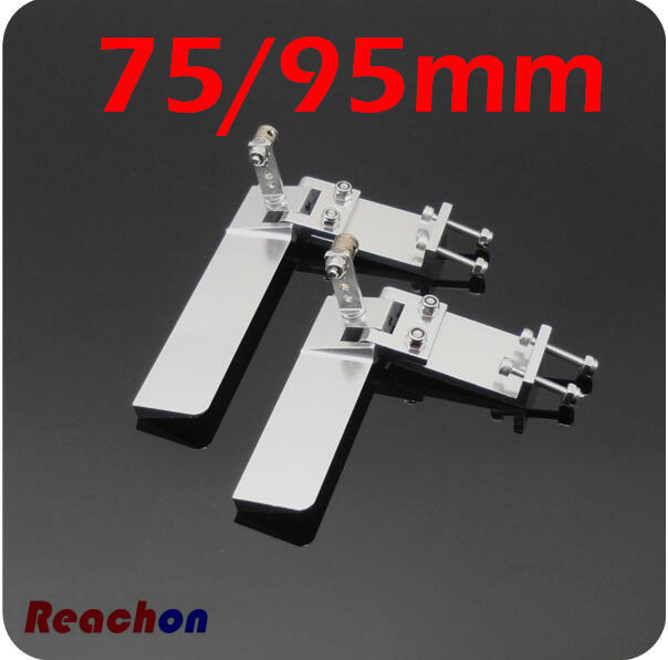 Free Shipping 75mm 95mm RC Boat Rudder CNC aluminum alloy Steering-wheels Steering wheel for RC Boat radio controlled boat free shipping 110mm water steering wheels aluminum middle steering wheel for rc racing boat brushless electric boat spare parts page 2