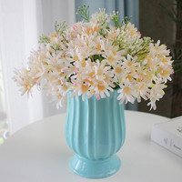 Modern ceramic blue flower vase crafts ornaments hydroponic dried flower porcelain vase home decorations wedding birthday gift