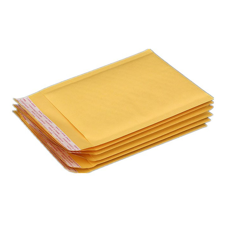 Yellow Bubble Mailing Envelope 6pcs Multi-size Self Adhesive Bubble Mailers Padded Envelopes Packaging Shipping Bags Courier Bag