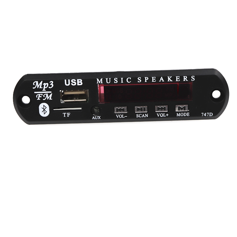 Bluetooth USB MP3 Decoder DC 12V Power Supply FM Radio Wierless MP3 Music Player Board Audio Module For Car Remote Music Speaker(China)