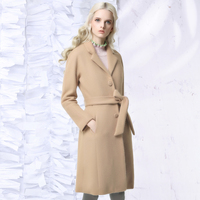 Jungle Me 2017 Spring Winter New Camel Wool Coats Wide Waisted Long Loose Single Breasted Suit