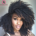 Afro Kinky Curly Clip In Human Hair Extensions 7Pcs/Set Natural Kinky Curly Clip In Hair Extensions Brazilian Curly Clip Ins