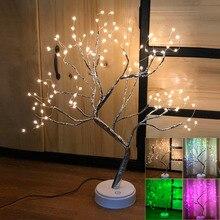 цена Touch Switch LED Tabletop Tree Light  LED Night Light LEDs Tabletop Tree Light USB / Battery Operated LED Tree Light D25 онлайн в 2017 году