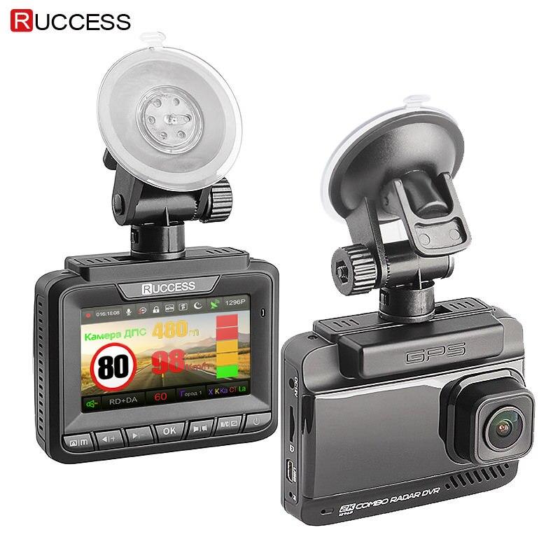 Ruccess Rivelatori Radar 3 in 1 Rivelatore Del Radar Full Hd 1080 p Auto Dvr Dual Lens Videocamera per auto Video Registratore GPS cancelliere Dashcam