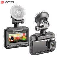 Ruccess Radar Detectors 3 in 1 Radar Detector Full Hd 1080p Car Dvr Dual Lens Car Camera GPS Video Recorder Registrar Dashcam