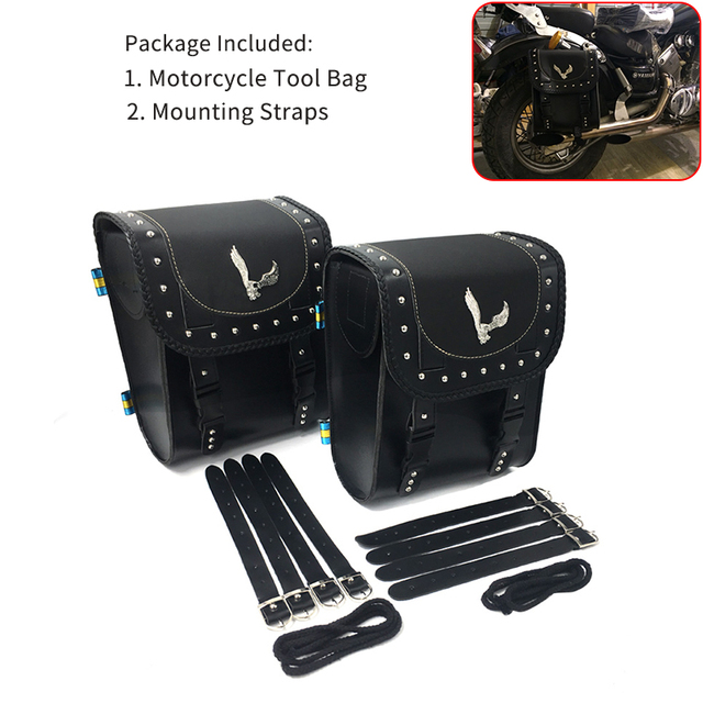 2018 Motorcycle Bags Luggage Front Fork Tool Bag Leather Synthetic Handlebar For Harley Sportster