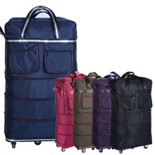 Lightweight large capacity universal wheels 32″ checked bag folding wheel bag travel bag  moving house going abroad luggage bag