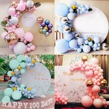 Globos de macarrón de 5 pulgadas, Globos de látex para fiesta de unicornio y macarrón, decoraciones para helio Baby Shower, decoraciones para fiesta de cumpleaños, Globos inflables para niños