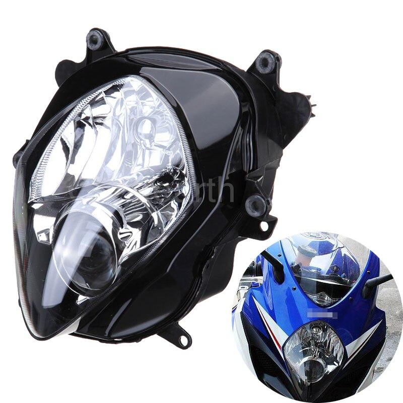 Suzuki için GSXR1000 GSX R1000 GSXR 1000 2007 2008 K7 K8 Motosiklet Ön Far Başkanı Işık Lambası Far Meclisi Konut Kiti title=