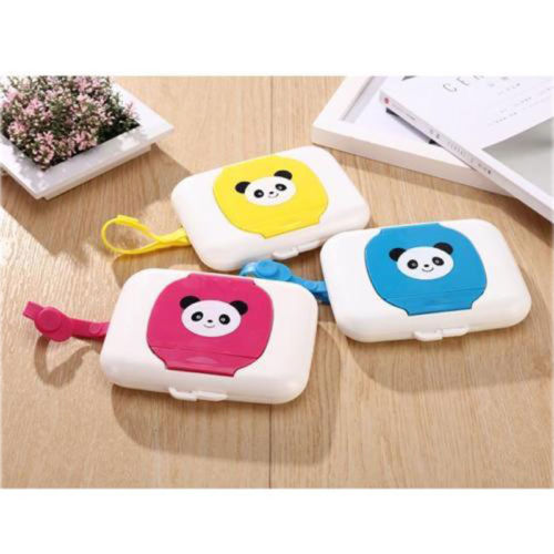 Outdoor Travel Baby Newborn Kids Panda Wet Wipes Case Boxes Wet Wipes Dispenser Box Bags Cute