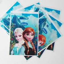 10pcs Elsa And Anna Gift Bag Candy Bag Cartoon Theme Party Festival&Event Birthday Decoration Boy Favor Party Supplies