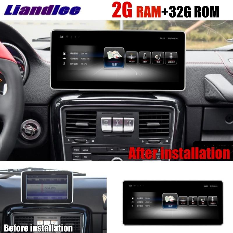 все цены на Liandlee Car Multimedia Player NAVI CarPlay 2GRAM For Mercedes Benz MB G Class G63 G350 G500 W463 2012~2018 Radio GPS Navigation онлайн