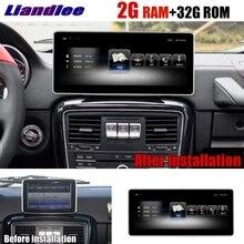 Liandlee Car Multimedia Player NAVI CarPlay 2GRAM For Mercedes Benz MB G Class G63 G350 G500 W463 2012~2018 Radio GPS Navigation