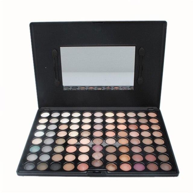 Venda quente 88 Color Eyeshadow Quente Satin Matte Cetim Shimmer Makeup Palette Pro Sombra de Olho Ferramentas de Beleza Da Natureza