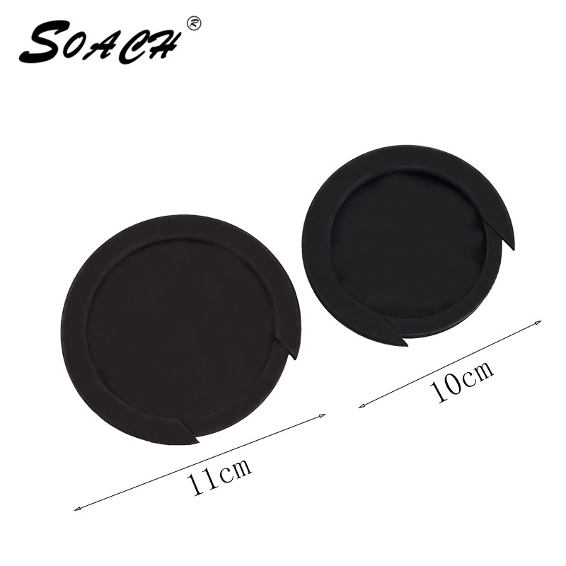 SOACH Hitam Getah 11cm / 10cm Guitar Sound Hole Akustik Aksesori Guitar Cover High Quality Guitar Sound Lubang Lubang