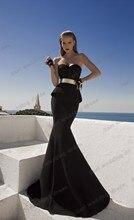 free shipping Formal party gown belt vestidos de renda festa robe soiree 2016 new design hot sexy black long evening Dress