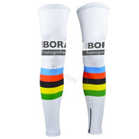 TEAM Bora Cycling Legwarmers Breathable Mens Sunscreen Bicycle Leggings Bike Cuff MTB Ropa Ciclismo Leg Covers
