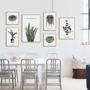 Image 2 - Elegantพืชสีเขียวพิมพ์สไตล์ภาพบ้านโรงแรมตกแต่งของขวัญ (ไม่มีกรอบ)