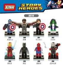 8pcs/Set Figure Building Blocks Sets china brand storm heroes  compitble with Lego