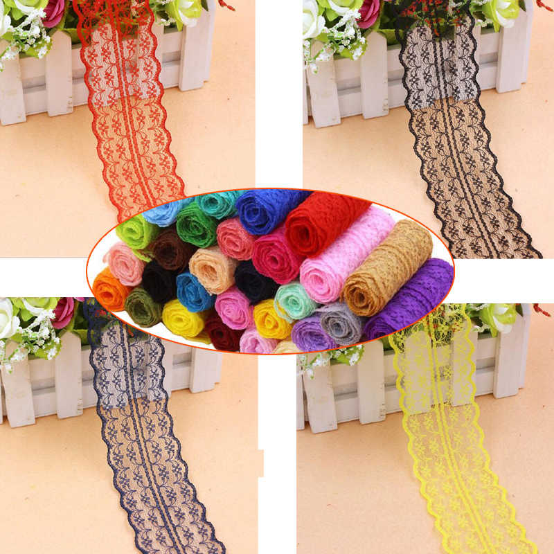 Wide 4.5cm Soft polyester Lace Trim Ribbon Apparel Sewing/Fabric DIY craft Garment Decor Wedding party Scrapbook necklace Wh