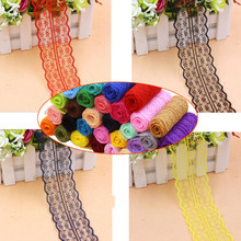 Wide 4.5cm Soft polyester Lace Trim Ribbon Apparel Sewing/Fabric DIY craft Garment Decor Wedding party Scrapbook necklace Wh(China)