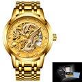 LIGE мужские часы Автоматическая техника Топ бренд класса люкс бизнес все стальные золотые военные водонепроницаемые наручные часы relogio ...