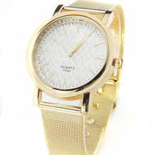 New Gold Classic Womens Quartz Stainless Steel Wrist Watch Lady style #2561 Brand New High Quality Luxury Free Shipping