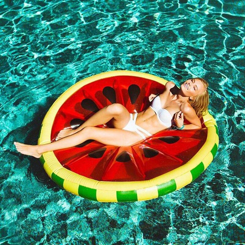 160 20cm Watermelon Pool Float Beach Lemon Swimming Toy Fruit Slice Float Floatie Swimming Ring
