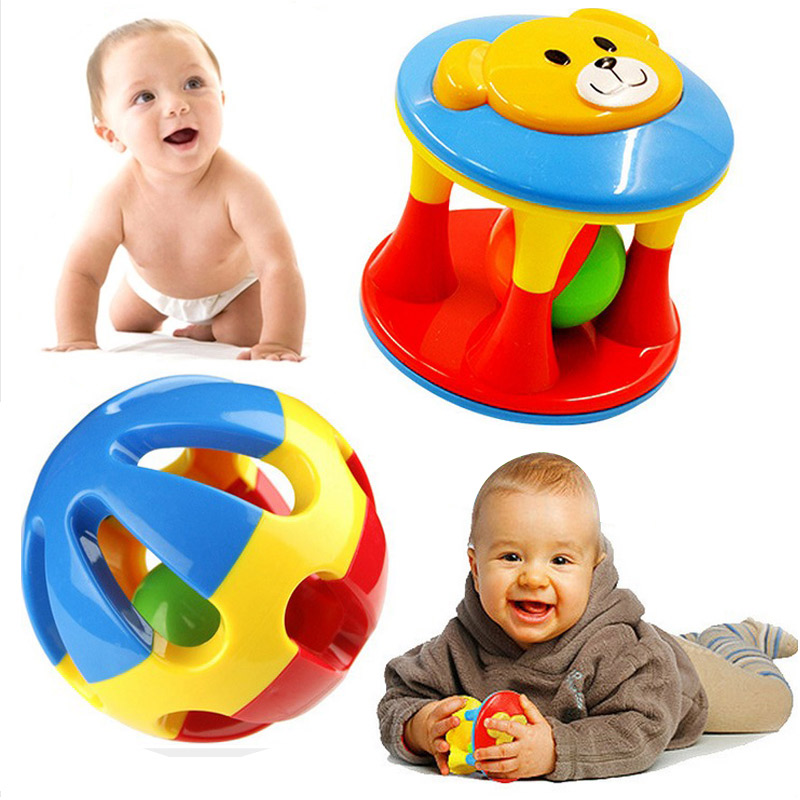 2Pcs/Lot Baby Toy Fun Little Loud Jingle Ball Ring jingle Develop Baby Intelligence Training Grasping ability Toy For Baby