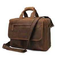 JMD Кожа Мужские портфели для мужчин Сумки из натуральной коровьей кожи бизнес сумка ручной сумки Высокое качество 7395B