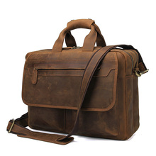 JMD Leather Briefcases Men Handbag Natural Real Cowhide Business Shoulder Bag Hand bags High Quality 7395B